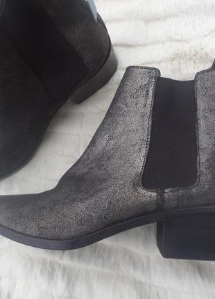 Ботинки демисезонные черные с серебристым - stradivarius