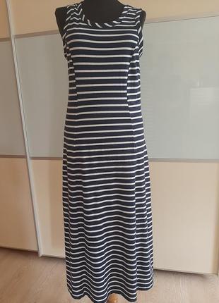 Хлопковое миди  платье,  uk10, eur38