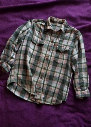 Плотна рубашка в клетку, сорочка в клітинку