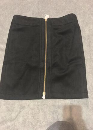 Модная юбка с завышенной талией