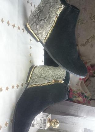 Ботинки  осенние без каблука