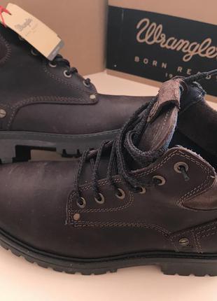 Скидую 20% кожаные ботинки осень-зима от wrangler оригинал 41размер