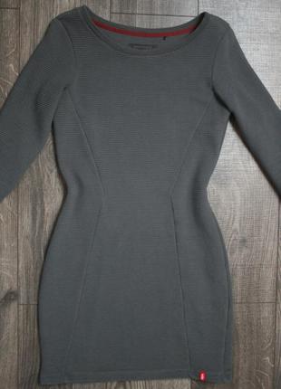 Фактурное платье в рубчик - xs/s