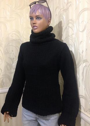 Теплый, объемный свитер-хомут, zara, размер m