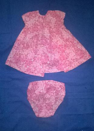 Платье для малышки 3-6мес. zara