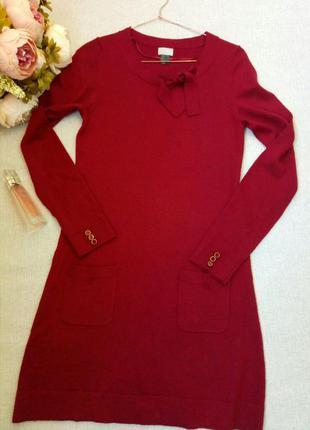 Поделиться:  платье- туника,пурпурно-красного цвета.h&m.p-s/m