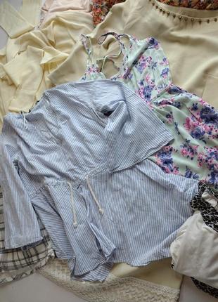Лот из 8 вещей пакет вещей блузы платье топ