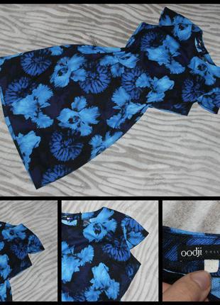 Oodji.плотное платье в цветочный принт.