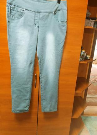 Стрейчевые женские джинсы скинни узкачи большой размер батал.2 фото