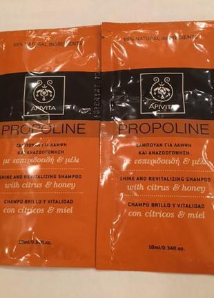 Apivita propoline шампунь с медом и цитрусом