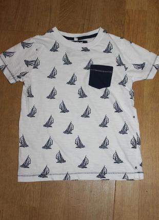 Стильна футболка в кораблики m&s