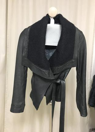 Брэндовая кожаная куртка