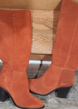 Оранжеві чоботи замша simply be р9-42