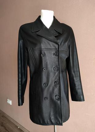 Плащ пальто из натуральной кожи