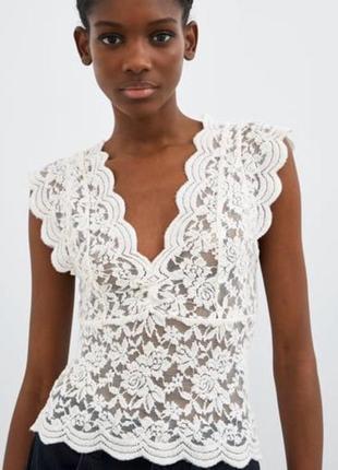Кружево блуза zara размер m