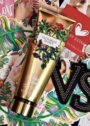 Ароматный лосьон для тела *wild flora*, викториас сикрет, victoria's secret. golden bloom