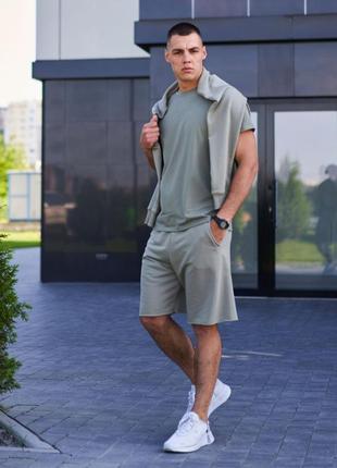Мужской костюм худи футболка шорты / летний комплект летний