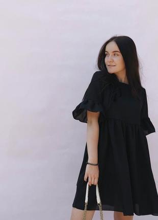 Черное платье в стиле zara asos,сукня