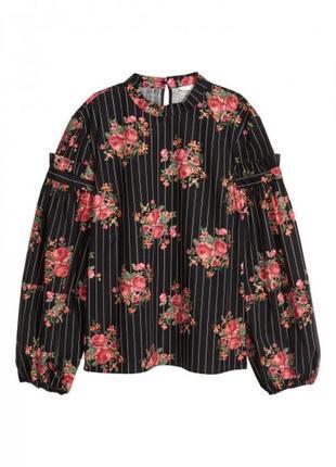 Блуза с широкими рукавами h&m