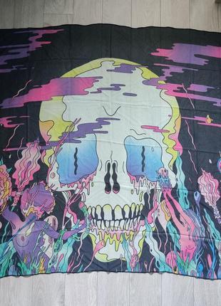 Плакат на ткани инди рок группы the shins, гобелен на стену, шарф с принтом череп