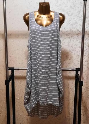 Платье италия лен р. 44 46 48 50 льняное бохо кокон