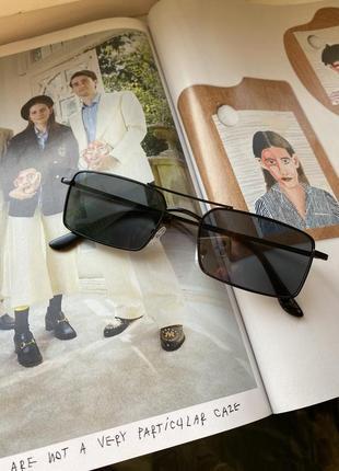 ❌уценка❌квадратные прямоугольные очки стеклянные чёрные в чёрной оправе унисекс мужские женские