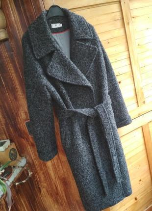 Тепле вовняне пальто укр дизайнер бренд fashion factory утеплене зима
