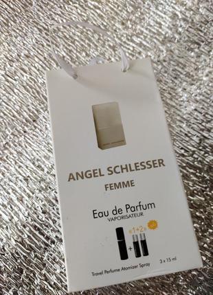 Angel schlesser femme мини парфюм в подарояном наборе 3×15