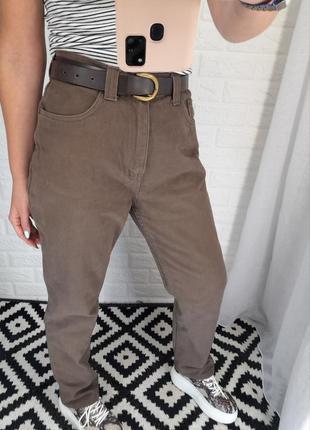 Идеальные джинсы мокко коричневые коттон,плотные ,не тянуться,прямые джинсы штаны брюки