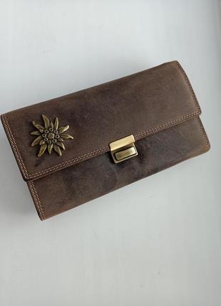 Винтажный кожаный кошелек