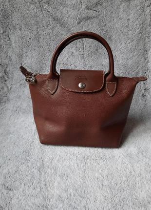 Брендовая  кожаная сумка  longchamp оригинал