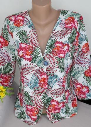Брендовый яркий пиджак жакет блейзер boohoo великобритания принт цветы этикетка