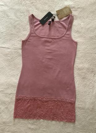 Темно-рожева майка vero  moda p.m органічний котон