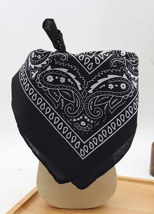Бандана с узором пейсли косынка повязка платок