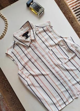 Рубашка / актуальная блуза / блузка m l xl / сорочка в полоску / тренд  база