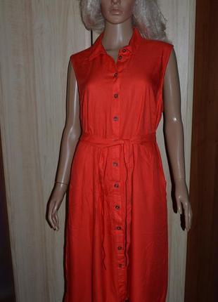 Шикарное платье с пуговицами и поясом tu 16 размер
