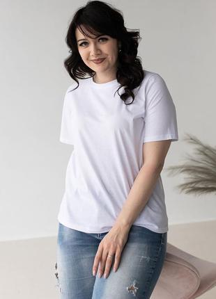 Базова однотонна футболка size+