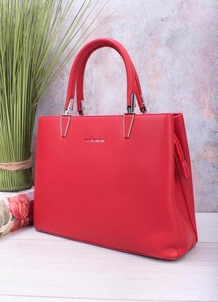 Красная сумка эко кожа