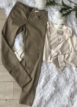 Базовые штаны/джинсы/скини хаки оригинал h&m