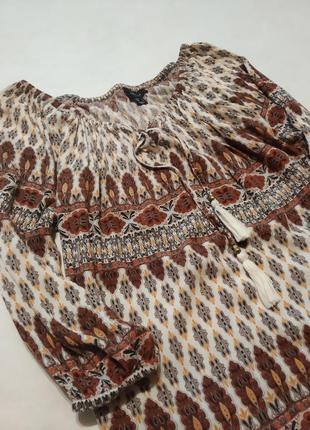Блуза футболка бохо вискоза блузка топ рубашка сорочка atmosphere