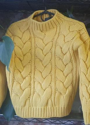 Модный, яркий, укороченый свитер polo