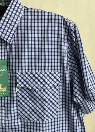 Тонкая летняя рубашка с коротким рукавом большого размера, мужская тениска