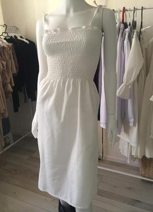Летнее платье из натурального льна ☘️