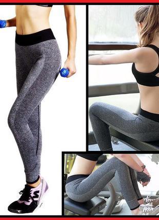 Спортивные лосины для фитнеса, леггинсы для спорта, одежда в спортзал, штаны, йога