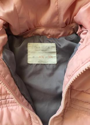 Куртка демисезонная zara на 2-4 года