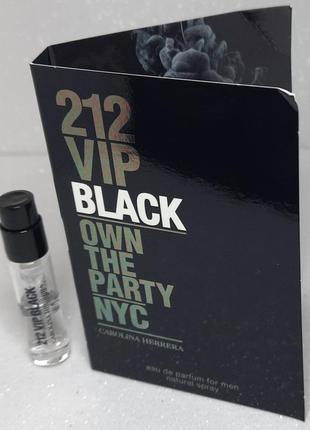 Carolina herrera 212 vip black парфюмированная вода