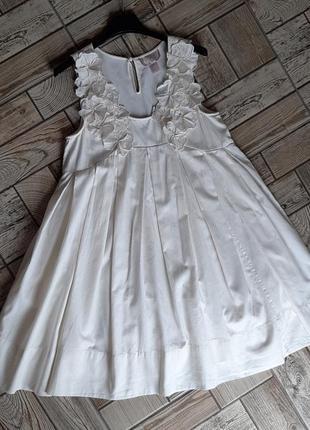Красивое кремовое платье свободного кроя h&m