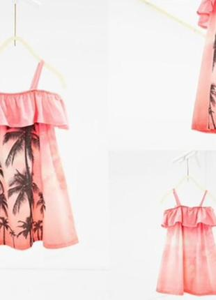Стильное яркое платье плаття сарафан зара zara kids