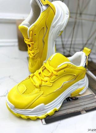Рр 35-39. кроссовки жёлтые