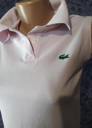 Полло от лакоста нежно розового цвета